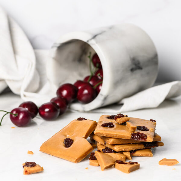 Cherry Toffee on marble